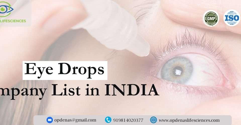 Eye Drops Company List in India
